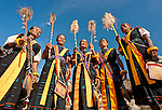 Women in traditional ceremonial dress, Luba Village, near Bajawa, Flores, East Nusa Tenggara, Indonesia