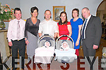 Twins Ava & Evan Dore, Listowel who were christened in Duagh Church on Sunday last by Fr. Pat Moore and afterwards at The Listowel Arms Hotel. James Dore, Joan McCarthy, James & Theresa Dore and Helen & John Dore.