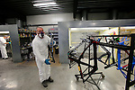 The labor intensive paint shop at the Ridley factory in Paal-Beringen, Belgium, 21st March 2013 (Photo by Eoin Clarke 2013)