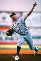 Eric DuBose of the Visalia Oaks during a game at Arrowhead Credit Union Park in San Bernardino, California during 1997 spring training.(Larry Goren/Four Seam Images)