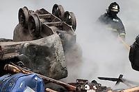 fecha: 18-06-2012 En el pozo Carrio, Barredos, en Pola de la Viana, los mineros toman el pozo durante la huelga general en las comarcas mineras, cortaron el corredor del Nalon