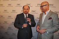 Georges Kern Presenting Jason Alexander with a watch at the IWC Timeless Portofino Event on December 3, 2014 (Photos by Getner Fabe/Guest Of A Guest)