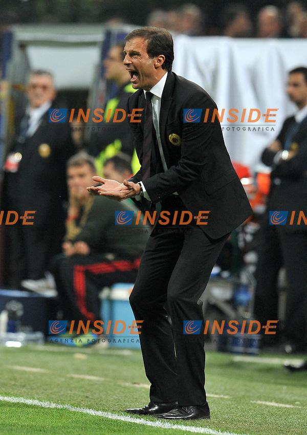 "Massimiliano ALLEGRI (Milan).Milano 28/03/2012 Stadio ""Giuseppe Meazza"".Champions League 2011/2012.Football Calcio Milan Vs Barcellona.Foto Insidefoto Alessandro Sabattini."