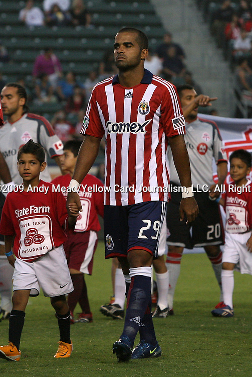 22 August 2009: Chivas USA's Maicon Santos (BRA). CD Chivas USA played Toronto FC at the Home Depot Center in Carson, California in a regular season Major League Soccer game.