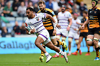 Telusa Veainu of Leicester Tigers runs in a first half try. Gallagher Premiership match, between Wasps and Leicester Tigers on September 16, 2018 at the Ricoh Arena in Coventry, England. Photo by: Patrick Khachfe / JMP