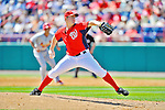 12 March 2012: Washington Nationals pitcher Jordan Zimmermann on the mound during a Spring Training game against the St. Louis Cardinals at Space Coast Stadium in Viera, Florida. The Nationals defeated the Cardinals 8-4 in Grapefruit League play. Mandatory Credit: Ed Wolfstein Photo