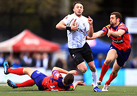 TORONTO, ON - MAY 06:  Ryan Brierley #27 of Toronto Wolfpack races through the Oxford RLFC defence during the first half of a Kingstone Press League 1 match at Lamport Stadium on May 6, 2017 in Toronto, Canada.  (Photo by Vaughn Ridley/SWpix.com)