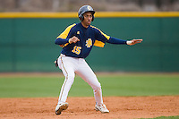 James Howard #15 of the North Carolina A&T Aggies takes his lead off of second base versus the High Point Panthers at War Memorial Stadium March 16, 2010, in Greensboro, North Carolina.  Photo by Brian Westerholt / Four Seam Images