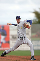 July 8 2009: Dan Perkins of the Tri City Dust Devils pitches against the Salem-Kaizer Volcanoes at Volcano  Stadium in Kaizer,OR.  Photo by Larry Goren/Four Seam Images
