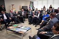 BRASILIA, DF, 20.11.2018 - BOLSONARO-TCU-   O presidente eleito, Jair Bolsonaro, durante encontro com o presidente do TCU, Raimundo Carreiro, nesta terça, 20.(Foto:Ed Ferreira )