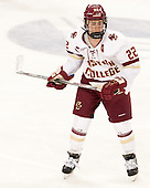 Haley Skarupa (BC - 22) - The Boston College Eagles defeated the Northeastern University Huskies 5-1 (EN) in their NCAA Quarterfinal on Saturday, March 12, 2016, at Kelley Rink in Conte Forum in Boston, Massachusetts.