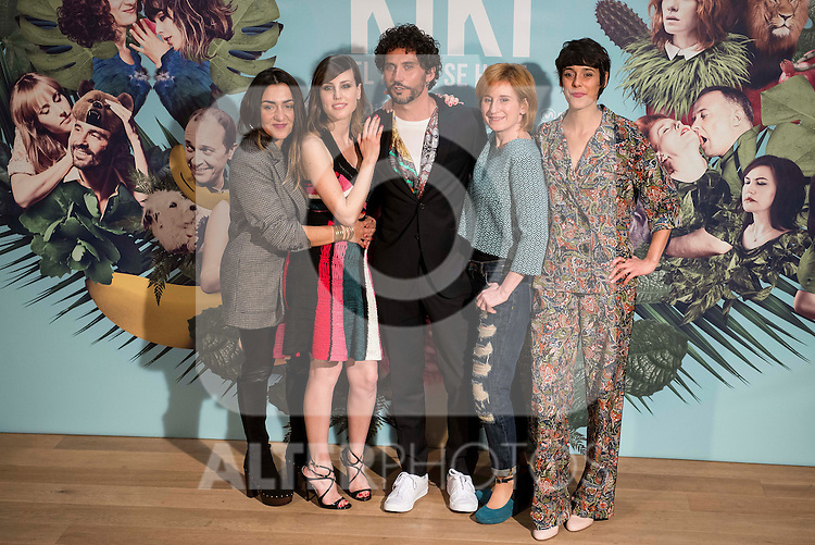 "The left to the right, Candela Peña, Natalia de Molina, Paco Leon, Mari Paz Sayago and Belen Cuesta during the presentation of the spanish film ""Kiki, el amor se hace"" in Madrid . March 29, 2016. (ALTERPHOTOS/Borja B.Hojas)"