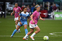 Kansas City, MO - Friday May 13, 2016: FC Kansas City midfielder Jen Buczkowski (6) against Chicago Red Stars midfielder Danielle Colaprico (24) during a regular season National Women's Soccer League (NWSL) match at Swope Soccer Village. The match ended 0-0.