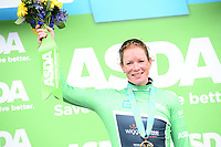 Picture by SWpix.com 04/05/2018 - Cycling Asda Women's Tour de Yorkshire - Stage 2 Barnsley to Ilkley - Wiggle High5's Kirsten Wild takes the Asda Points Jersey.