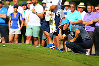 Martin Kaymer eyes up his putt on the #5 green during the BMW PGA Golf Championship at Wentworth Golf Course, Wentworth Drive, Virginia Water, England on 26 May 2017. Photo by Steve McCarthy/PRiME Media Images.