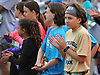 Young runners in 2016 Long Island Marathon Weekend's 1 mile race get ready to pound the pavement on Charles Lindbergh Boulevard before the start on Saturday, Apr. 30, 2016.