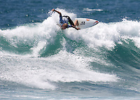 Australian Mick Fanning throws one off the top during the final. 2009 WQS 6 Star US Open of Surfing in Huntington Beach, California on Sunday July 26, 2009. ..