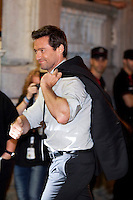American actor Hugh Jackman arrives to Maria Cristina hotel during the 61 San Sebastian Film Festival, in San Sebastian, Spain. September 26, 2013. (ALTERPHOTOS/Victor Blanco)