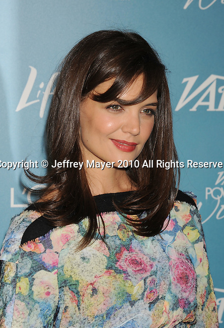 BEVERLY HILLS, CA. - September 30: Katie Holmes arrives at Variety's 2nd Annual Power Of Women Luncheon at The Beverly Hills Hotel on September 30, 2010 in Beverly Hills, California.