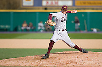 April 4, 2009: Arizona State Sun Devils lefthanded pitcher Josh Spence toes the rubber in a Pac-10 game against the University of Washington at Husky Ballpark in Seattle, Washington.
