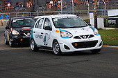 Nissan Micra Cup in car number 69 driven by Stefan Rzadzinsky at the Grand Prix of Trois-Rivieres in Quebec