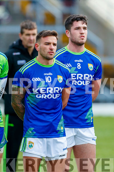Micheál Burns, and Liam Kearney, Kerry before the Allianz Football League Division 1 Round 4 match between Kerry and Meath at Fitzgerald Stadium in Killarney, on Sunday.