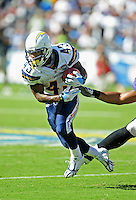Sep. 20, 2009; San Diego, CA, USA; San Diego Chargers running back Darren Sproles runs the ball in the fourth quarter against the Baltimore Ravens at Qualcomm Stadium in San Diego. Baltimore defeated San Diego 31-26. Mandatory Credit: Mark J. Rebilas-