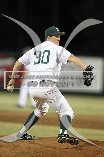 Stetson Hatters Cameron Griffin #30 during a game vs Siena Saints at Melching Field in De Land, Florida;  March 16, 2011.  Stetson defeated Siena 5-1.  Photo By Mike Janes/Four Seam Images