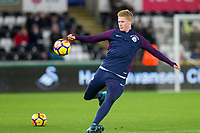 Kevin De Bruyne of Manchester City warms up for the EPL - Premier League match between Swansea City and Manchester City at the Liberty Stadium, Swansea, Wales on 13 December 2017. Photo by Mark  Hawkins / PRiME Media Images.