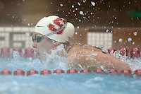 STANFORD, CA - JANUARY 22:  Charlotte Naylor of the Stanford Cardinal during Stanford's 173-125 win over Arizona on January 22, 2010 at the Avery Aquatic Center in Stanford, California.