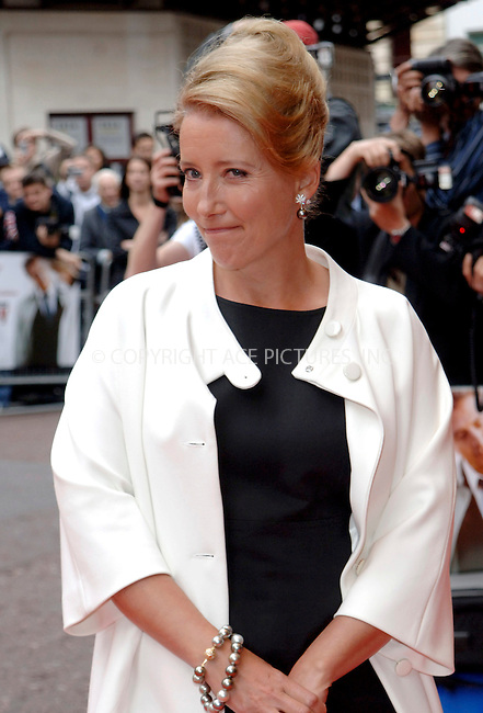 WWW.ACEPIXS.COM . . . . .  ..... . . . . US SALES ONLY . . . . .....June 3 2009, London....Emma Thompson attends the UK premiere of 'Last Chance Harvey' at the Odeon West End on June 3 2009 in London, England.....Please byline: FAMOUS-ACE PICTURES... . . . .  ....Ace Pictures, Inc:  ..tel: (212) 243 8787 or (646) 769 0430..e-mail: info@acepixs.com..web: http://www.acepixs.com