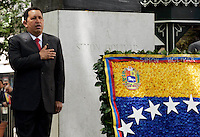 President of the Venezuela Hugo Chaves    during homage to the 225 years of the death  of the Simon Boliver at Av Liberdade downtown of Lisbon on 24 July 2008.