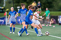 Boston, MA - Friday August 04, 2017: Morgan Andrews, Julie King and Maegan Kelly during a regular season National Women's Soccer League (NWSL) match between the Boston Breakers and FC Kansas City at Jordan Field.