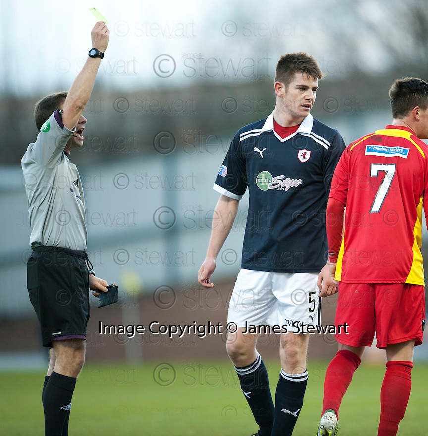 Raith's Dougie Hill gets a yellow in the first half and was the sent off during the half time interval after an incident as the players went down the tunnel ...