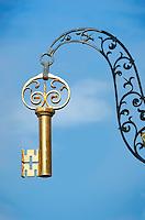 Germany, Bavaria, Upper Franconia, Bamberg: guild sign - key | Deutschland, Bayern, Oberfranken, Bamberg: Zunftschild, Schluessel