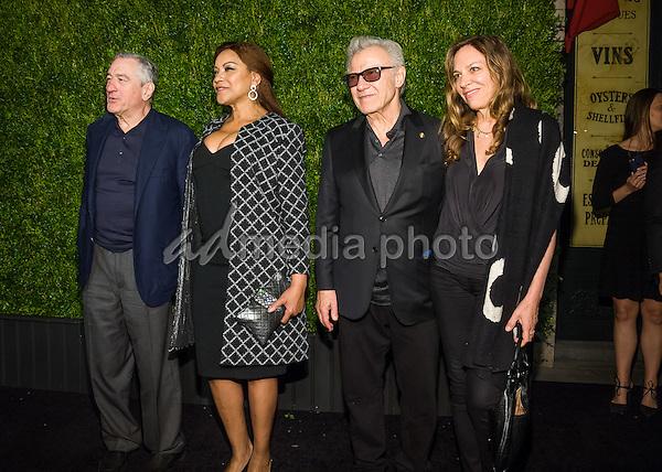 18 April 2016 - New York, New York- Robert Deniro, Grace Hightower, Harvey Keitel, Daphna Kastner. Chanel Artists Dinner at Tribeca Film Festival. Photo Credit: Mario Santoro/AdMedia