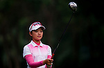 Yuting Shi of China looks at her line during the Hyundai China Ladies Open 2014 on December 10 2014 at Mission Hills Shenzhen, in Shenzhen, China. Photo by Xaume Olleros / Power Sport Images