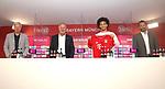 23.07.2020, nph001 Fussball 1.Bundesliga, FC Bayern Muenchen - Neuvorstellung Leroy Sane emspor (Leroy Aziz San) <br /> <br /> <br /> <br />  im Bild<br /> <br /> Leroy Sane Oilver Kahn Vorstands-Mitglied der FC Bayern München Karl-Heinz Rummenigge (Vorstand FC Bayern Muenchen  Hasan Salihamidzic FC Bayern zum Sportvorstand FC Bayern<br /> <br /> <br /> Foto: FC Bayern Muenchen/Pool/ via nordphoto
