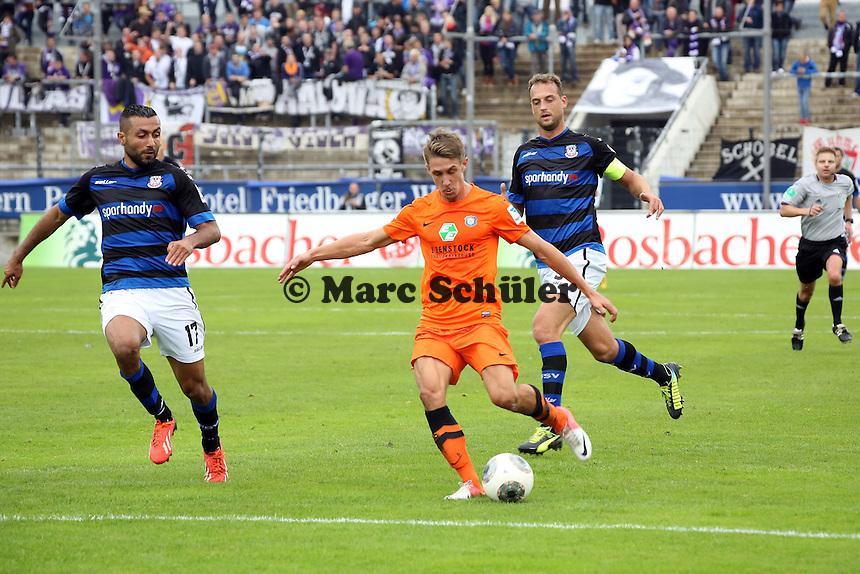 Jakub Sylvester (Aue) gegen Joan Oumari (FSV) - FSV Frankfurt vs. FC Erzgebirge Aue, Frankfurter Volksbank Stadion