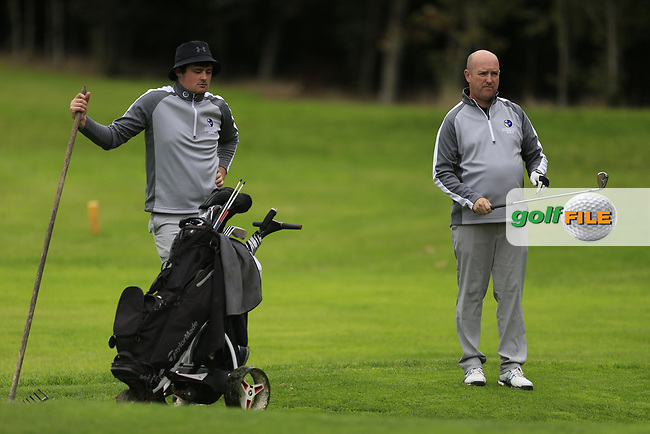TJ Ford & Joe Lyons (Connacht) during final day foursomes at the Interprovincial Championship 2018, Athenry golf club, Galway, Ireland. 31/08/2018.<br /> Picture Fran Caffrey / Golffile.ie<br /> <br /> All photo usage must carry mandatory copyright credit (© Golffile | Fran Caffrey)