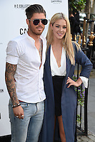 Sam Reece and Taylor Ward<br /> arrives for the Amy Childs Summer Collection show at Beach Blanket Babylon, Notting Hill, London.<br /> <br /> <br /> ©Ash Knotek  D3129  06/06/2016