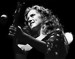 Bonnie Raitt performing at the Dr. Pepper Music Festival in Central Park in New York City in August, 1977