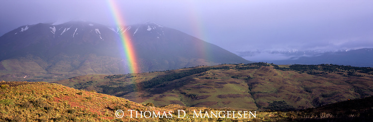A double rainbow in Torres  del Paine National Park, Chile.
