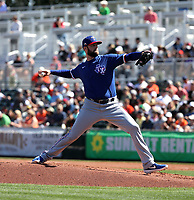 Jordan Lyles - Texas Rangers 2020 spring training (Bill Mitchell)