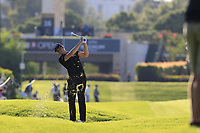 Thomas Detry (BEL) plays his 2nd shot on the 16th hole during Friday's Round 2 of the 2018 Turkish Airlines Open hosted by Regnum Carya Golf &amp; Spa Resort, Antalya, Turkey. 2nd November 2018.<br /> Picture: Eoin Clarke | Golffile<br /> <br /> <br /> All photos usage must carry mandatory copyright credit (&copy; Golffile | Eoin Clarke)