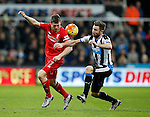 James Milner of Liverpool challenged by Paul Dummett of Newcastle United - English Premier League - Newcastle Utd vs Liverpool - St James' Park Stadium - Newcastle Upon Tyne - England - 6th December 2015 - Picture Simon Bellis/Sportimage