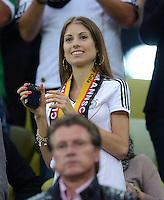 FUSSBALL  EUROPAMEISTERSCHAFT 2012   VIERTELFINALE Deutschland - Griechenland     22.06.2012 Cathy Fischer (Freundin von Mats Hummels)