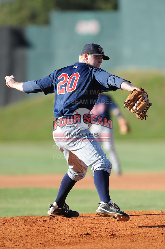 Logan Darnell  during the Appalachian League Championship. Johnson City  won 6-2 at Howard Johnson Field, Johnson City Tennessee. Photo By Tony Farlow/Four Seam Images.