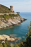 Europe/France/Corse/2B/Haute-Corse/Cap Corse/ env de Cagnano: La Tour de Losse, entre les Marines de Porticiolo et Pietracarbora.