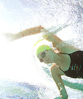 gswim  160295 8/22/09-- Chaparral swimmer Megan Cox works out at the Cactus Park Pool in Scottsdale.  (Pat Shannahan/ The Arizona Republic)